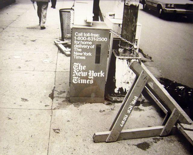 Andy Warhol, 'Newspaper Dispenser, The New York Times 1986', 1986, Photography, Silver Gelatin Print, Hammer und Partner