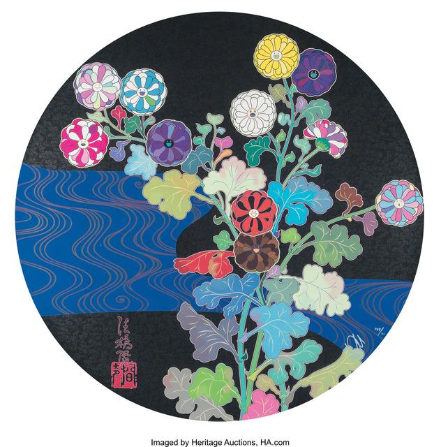 Takashi Murakami, 'Korin: Azure River', 2015, Heritage Auctions