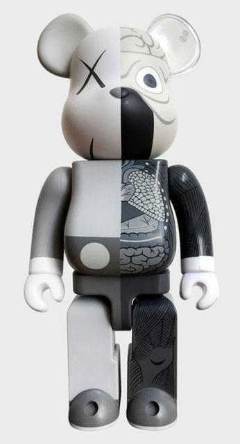 KAWS, 'Grey Dissected Bearbrick', 2010 , Design/Decorative Art, Painted Cast Vinyl, Lush Art Agency