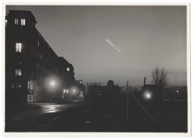 Josef Sudek, 'Untitled (Time Lapse w/ moon, streetscape)', ca. 1950, Elizabeth Houston Gallery
