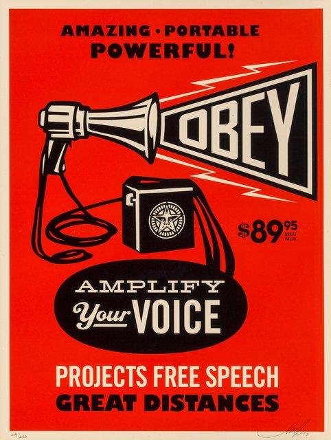 Shepard Fairey, 'Obey Megaphone Print', 2010, Heritage Auctions