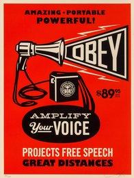 Obey Megaphone Print