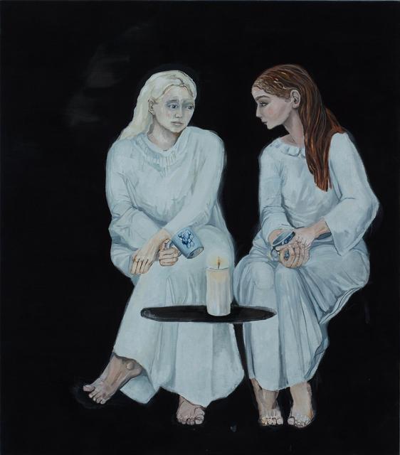 Meta Isaeus-Berlin, 'Systrarna går igenom nattens händelser 3, 2020', 2020, Painting, Oil on canvas, CFHILL