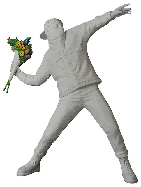 Banksy, 'FLOWER BOMBER GESSO WHITE', 2019, Dope! Gallery
