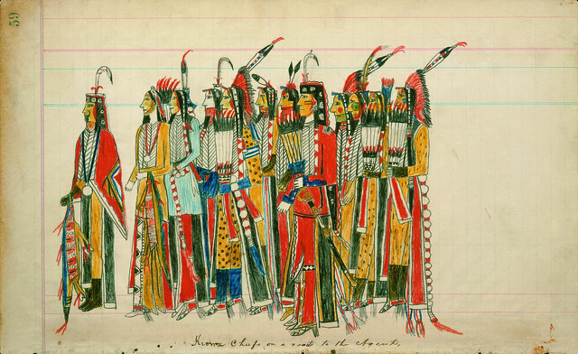 , 'Twelve High-Ranking Kiowa Men,' ca. 1880, American Federation of Arts