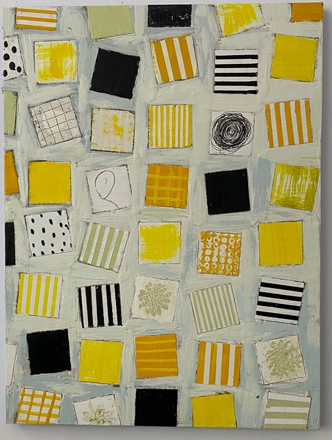 Amy Weil, 'Remnants of a lost summer', 2021, Painting, Encaustic, oil stick, wood panel, Arts Gowanus