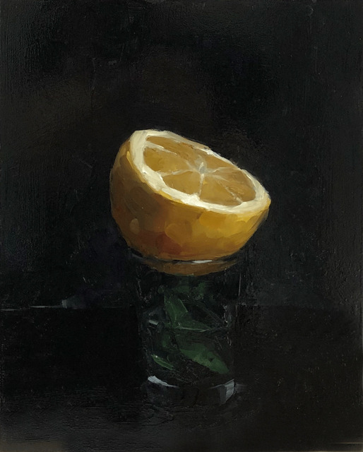 Tom Giesler, 'Floral 6: sliced lemon', 2020, Painting, Oil on panel, McVarish Gallery