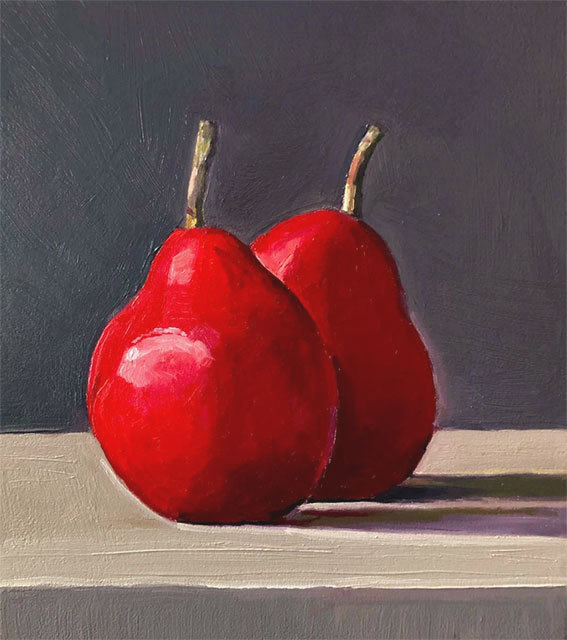 Dan McCleary, 'Red Pears', 10.4.19, Painting, Oil on canvas, Craig Krull Gallery