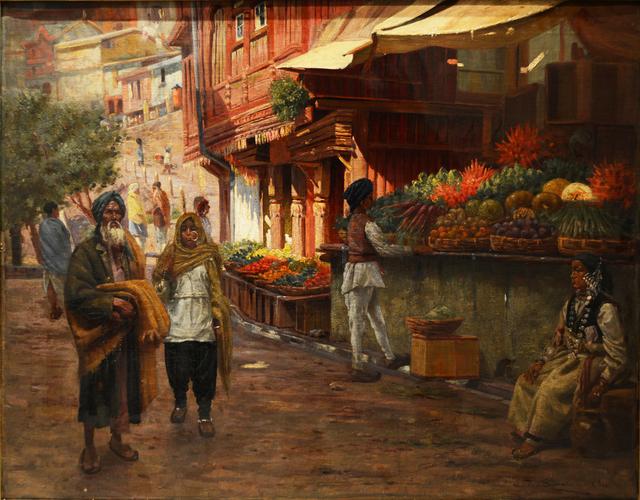 , 'A Street scene in Simla, India,' 1905, Swaraj Art Archive