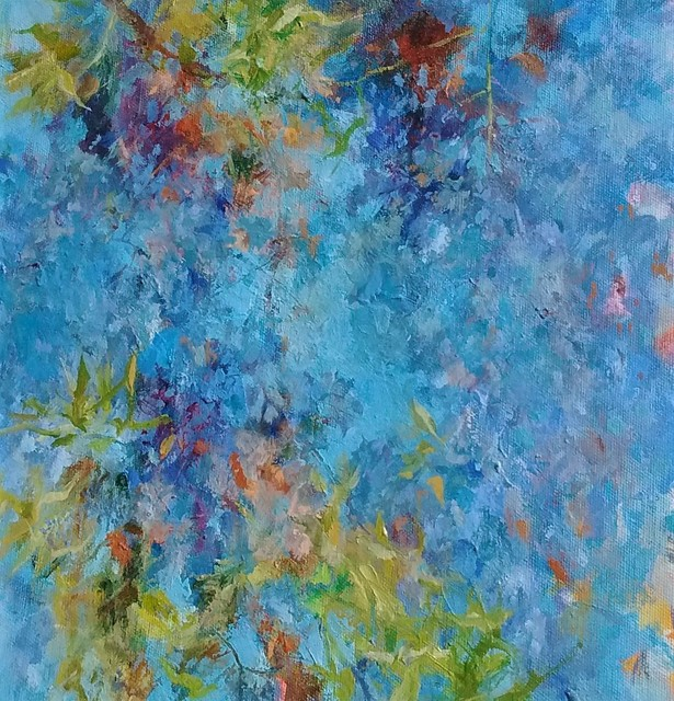 , 'Blue on Blue Wisteria,' 2018, Asher Grey Gallery