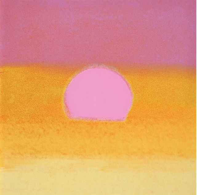 Andy Warhol, 'Sunset (Unique) (Pink/Yellow)', 1972, Print, Screenprint on Paper, Revolver Gallery