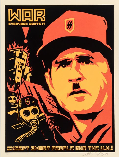 Shepard Fairey, 'Bush Gore Poster', 2003, Print, Screenprint in colors on speckled cream paper, Heritage Auctions