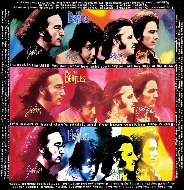 Steve Kaufman The Beatles Hard Days Night 1995 2005 Available For Sale Artsy