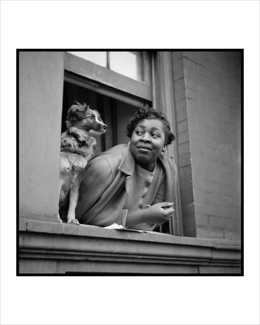 , 'Woman and Dog in Window, Harlem, New York,' 1943, Adamson Gallery