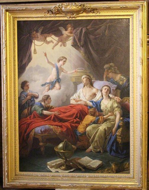 Louis-Jean-François Lagrenée, 'Allegorie sur la mort du dauphin (Allegory on the Death of the Dauphin)', 1765, Château de Fontainebleau