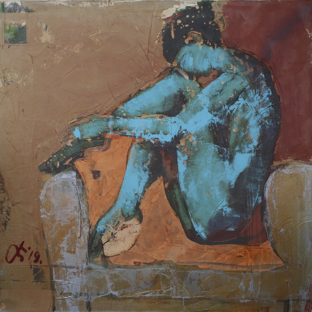 Serhiy Hai, 'Blue Nude', 2019, TEW Galleries