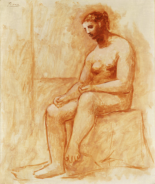 , 'Seated Nude,' 1922, Vancouver Art Gallery