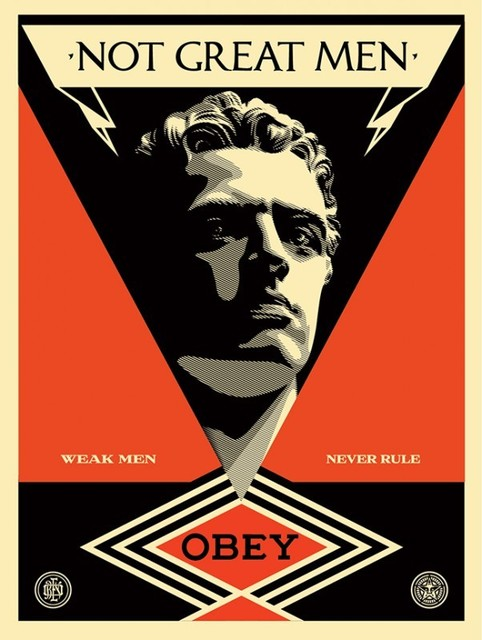 Shepard Fairey, 'Not Great Men', 2013, Black Book Gallery
