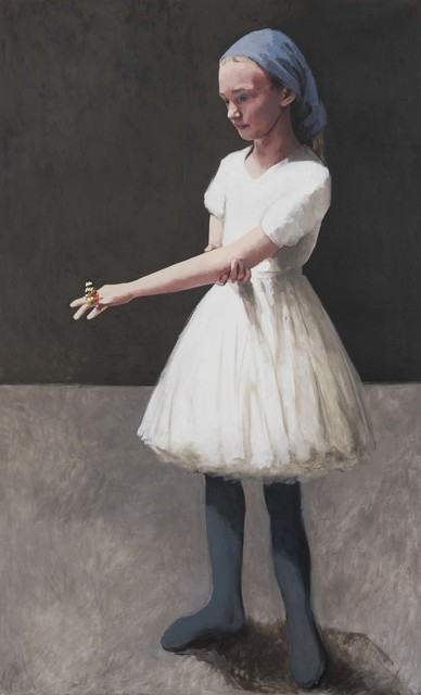 Claerwen James, 'Girl in a White Dress With a Butterfly', 2018, Flowers