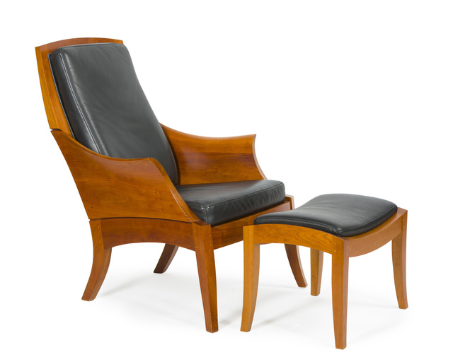 Thomas Moser, 'A Thomas Moser wing chair and ottoman', 2005-2017, John Moran Auctioneers
