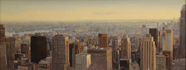 ", '""The City at Dusk, New York City"",' 2018, Bonner David Galleries"