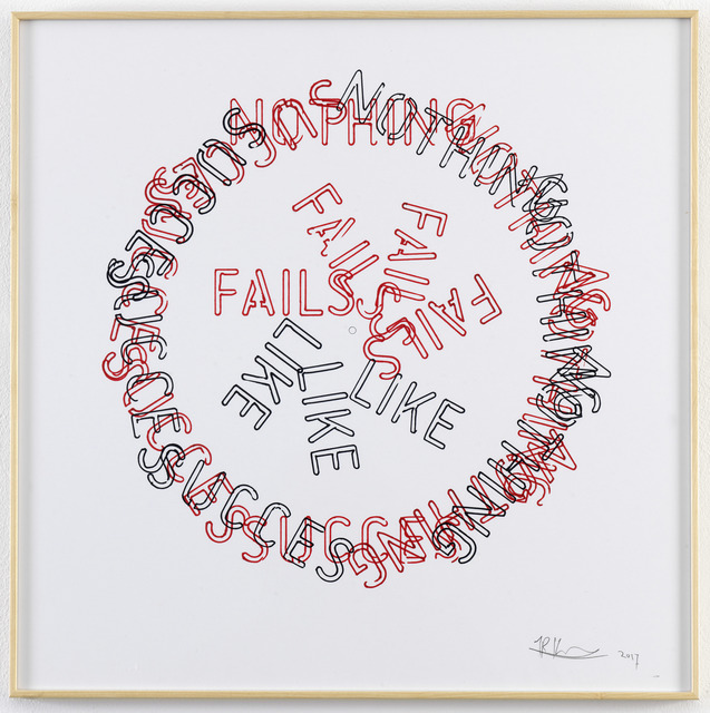 , 'Untitled [Nothing Fails Like Succes],' 2017, Galerie Fons Welters
