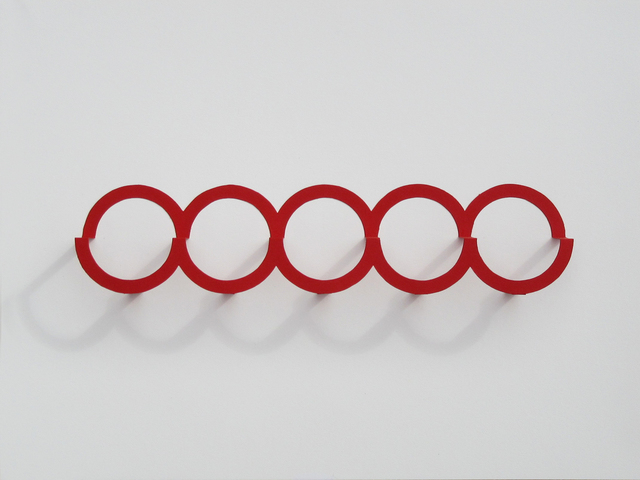 , 'Five Red Circles,' 2018, Richard Levy Gallery