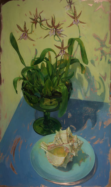 , 'Charles Fitch Orchids in Green Footed Bowl,' 2017, LeMieux Galleries