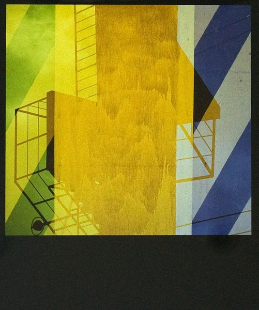 Yasuhiro Ishimoto, 'Unitled (abstraction with yellow and grey)', 1981-printed 1980s, IBASHO