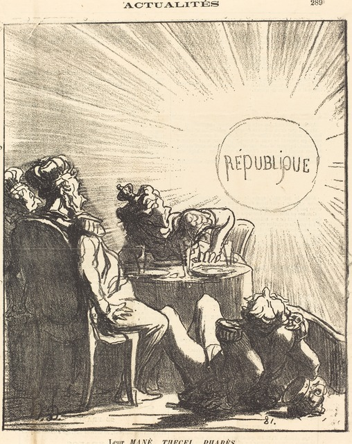 Honoré Daumier, 'Leur Mané, Thecel, Pharès', 1871, National Gallery of Art, Washington, D.C.