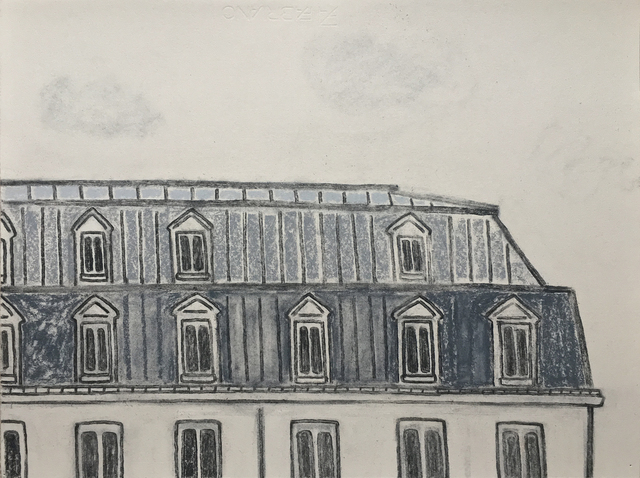 William Wright, 'Paris', 2018, Drawing, Collage or other Work on Paper, Charcoal and pastel on paper, Galerie Ariane C-Y