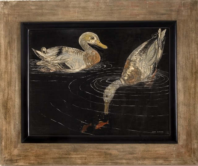 , 'Lacquered Panel Depicting Ducks,' 1926, Maison Gerard