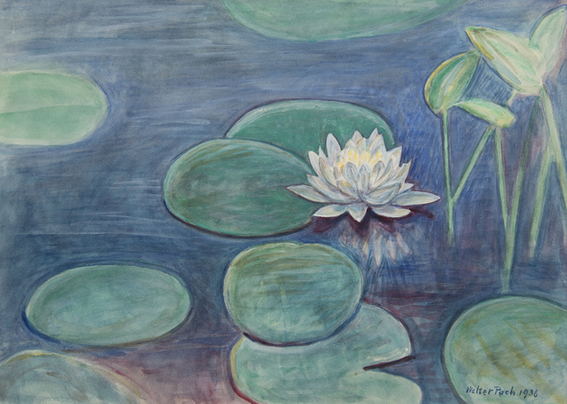, 'Untitled [Water Lilies and flower],' 1936, Francis M. Naumann Fine Art