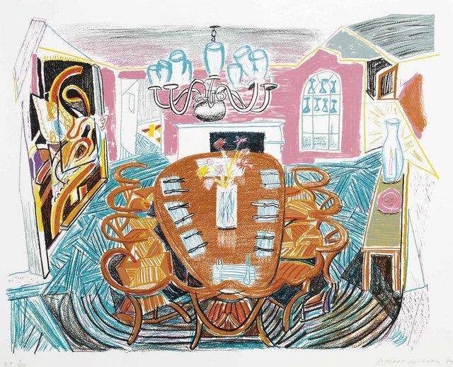 David Hockney, 'Tyler Dining Room, from Moving Focus', 1984, Christie's