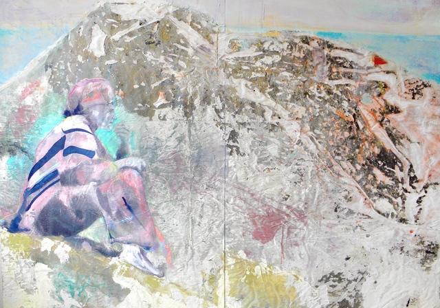 , 'Die Hänge von Masada (Dyptichon),' 2018, Galerie Schimming