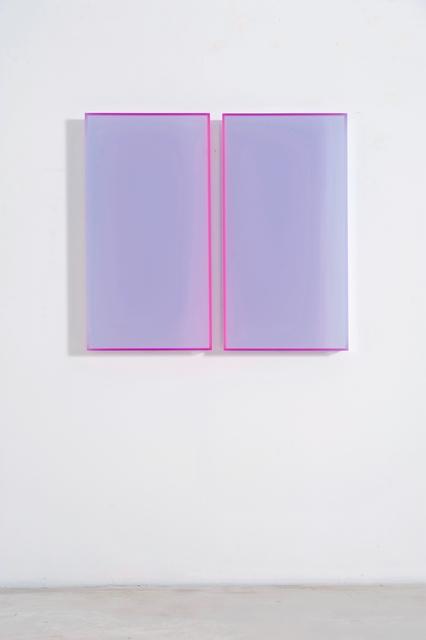 Regine Schumann, 'colormirror satin ice blue amsterdam', 2018, Galerie Judith Andreae