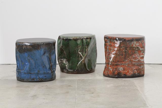 Taher Asad-Bakhtiari, 'Reclaimed Oil Barrels', 2017, Hostler Burrows