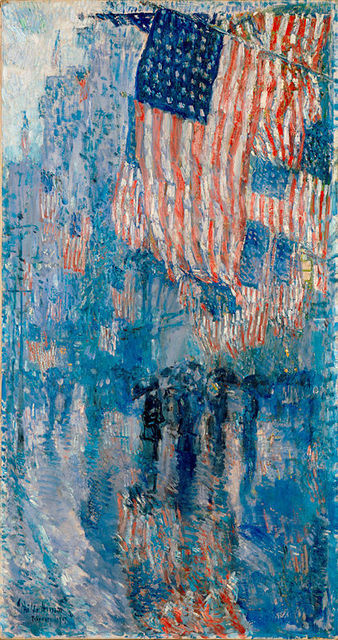 , 'The Avenue in the Rain,' 1917, White House Historical Association