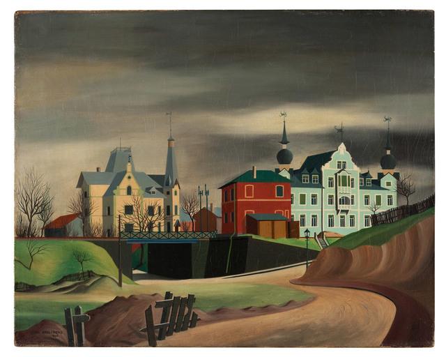 Carl Grossberg, 'Kitzingen, Unterführung', 1925, Galerie Michael Hasenclever