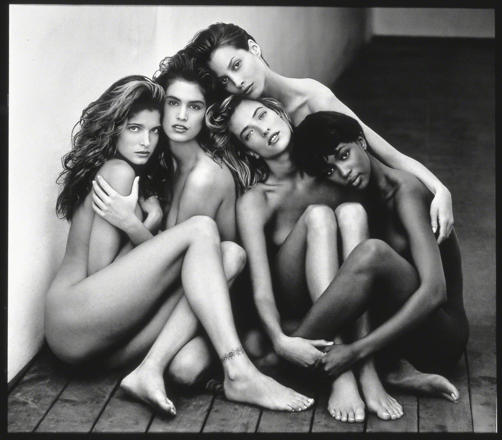 Stephanie, Cindy, Christy, Tatjana, Naomi, Hollywood, 1989