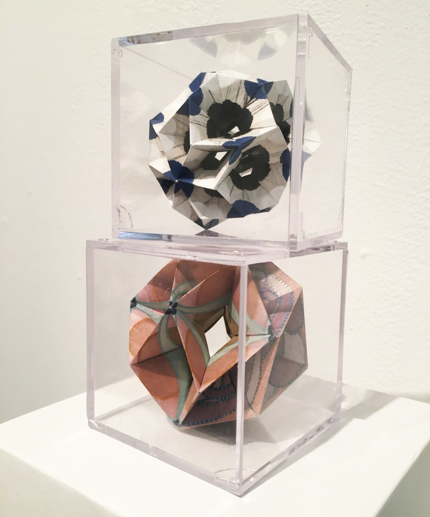 BoxHeart @ Aqua Art Miami, Room 210 featuring Andrew Ooi, hand-painted and free-folded gampi