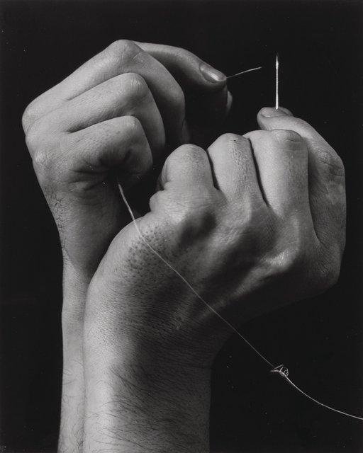 Anton Bruehl, 'Hand Threading Needle', circa 1930-printed circa 1960, Heritage Auctions