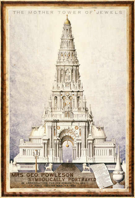 , 'Mrs. Geo. Powleson Symbolically Portrayed/The Mother Tower of Jewels,' 1935, Berkeley Art Museum and Pacific Film Archive