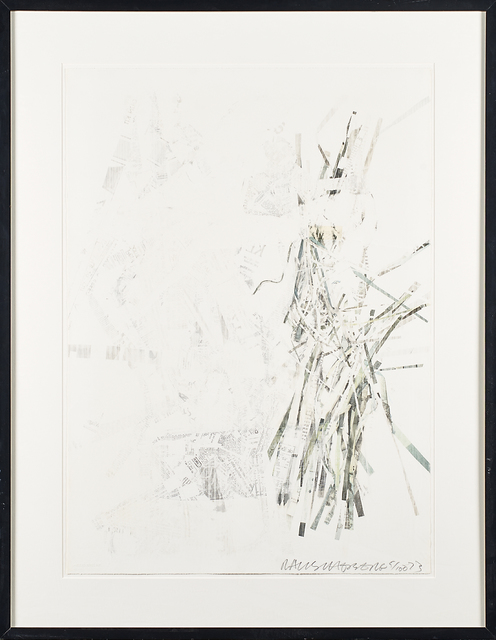 """Robert Rauschenberg, 'Noname (Elephant) from """"For Meyer Schapiro""""', 1973, Mixed Media, Solvent transfer drawing with gesso and collage additions (framed), Rago/Wright"""