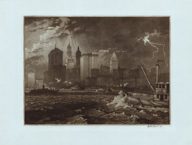 , 'Passing Storm.,' 1919, The Old Print Shop, Inc.