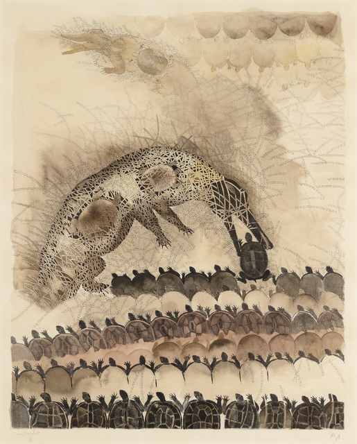 , 'Crocodiles Devouring Turtles,' 1974, Heather James Fine Art