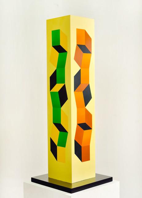 , 'Columna escultórica policromada,' 2002, Durban Segnini Gallery