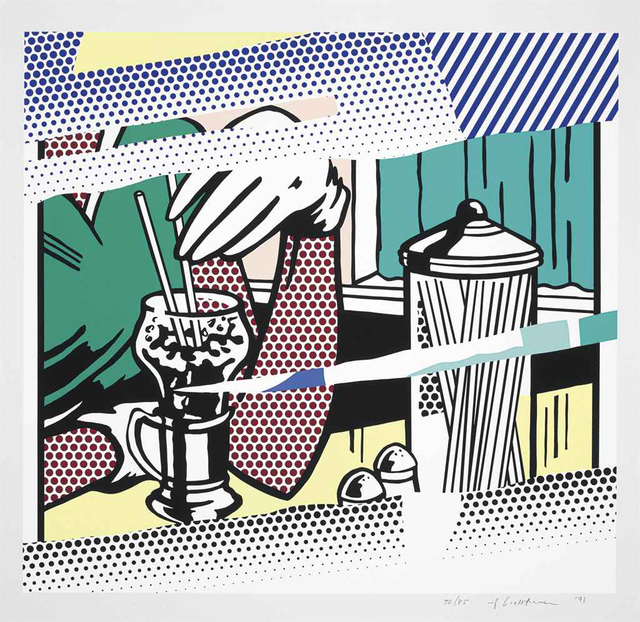 Roy Lichtenstein, 'Reflections on Soda Fountain  ', 1991, Fine Art Mia