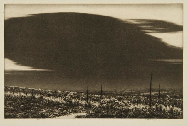 , 'September 13 1918, St.Mihiel (The Great Black Cloud),' 1934, Osborne Samuel