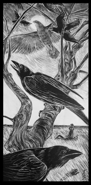 Ellen LeBow, 'Hawk & Crow, Sleeping Man', 2019, Rice Polak Gallery
